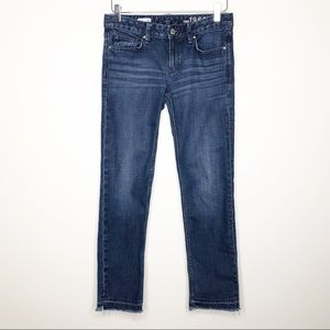 Gap | Real Straight Raw Released Hem Jeans Sz 26